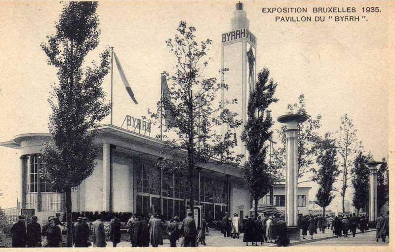 Expo Bruxelles 1935 - Carte postale - Pavillon Byrrh