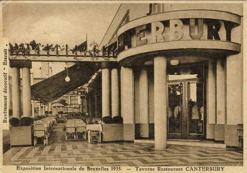 Expo Bruxelles 1935 - Carte postale - Taverne Restaurant Canterbury