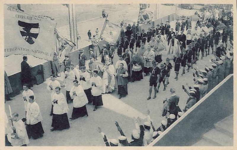 Expo Bruxelles 1935 - Carte postale - Cérémonie d ouverture