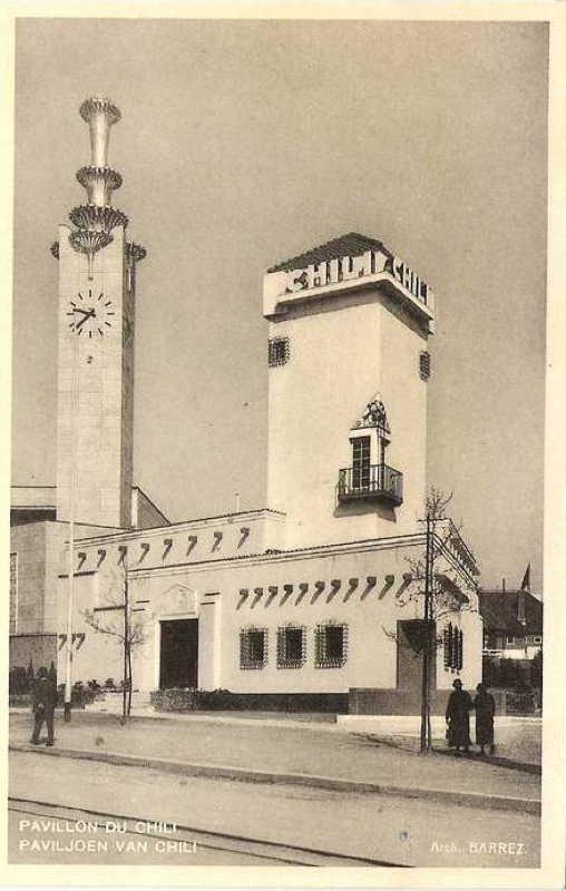 Expo Bruxelles 1935 - Carte postale - Pavillon du Chili - Paviljoen van Chili