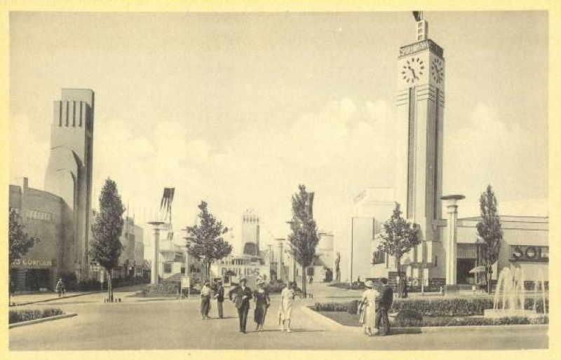 Expo Bruxelles 1935 - Carte postale - Avenue Coloniale