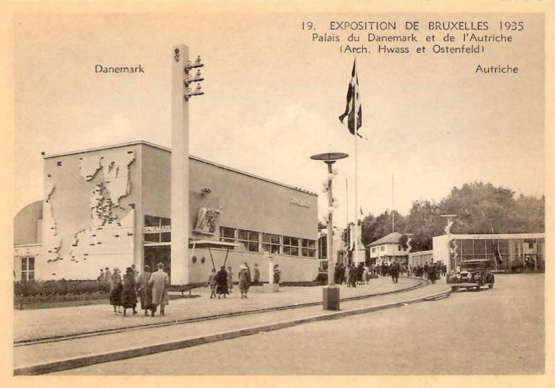 Expo Bruxelles 1935 - Carte postale - Pavillon du Danemark - Paviljoen van Denemarken
