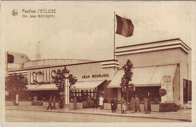 Expo Bruxelles 1935 - Carte postale - Pavillon l Ecluse