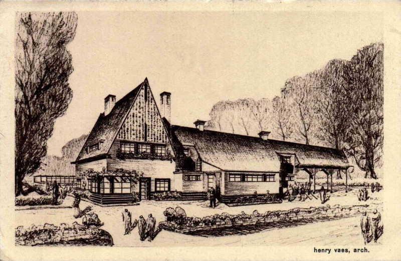 Expo Bruxelles 1935 - Carte postale - Ferme Modele