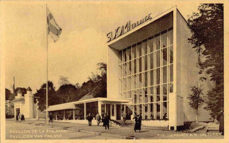Expo Bruxelles 1935 - Carte postale - Pavillon de la Finlande - Paviljoen van Finland