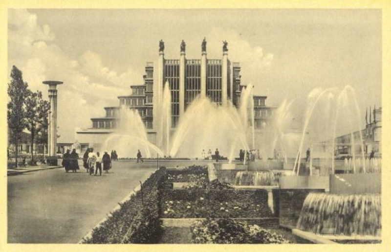 Expo Bruxelles 1935 - Carte postale - Fontaines - Fonteinen