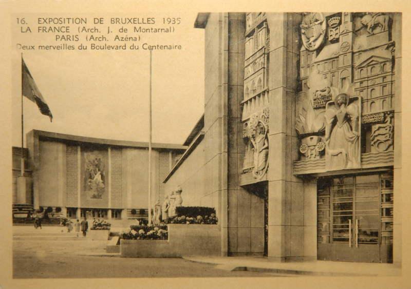Expo Bruxelles 1935 - Carte postale - Pavillon de la France - Paviljoen van Frankrijk