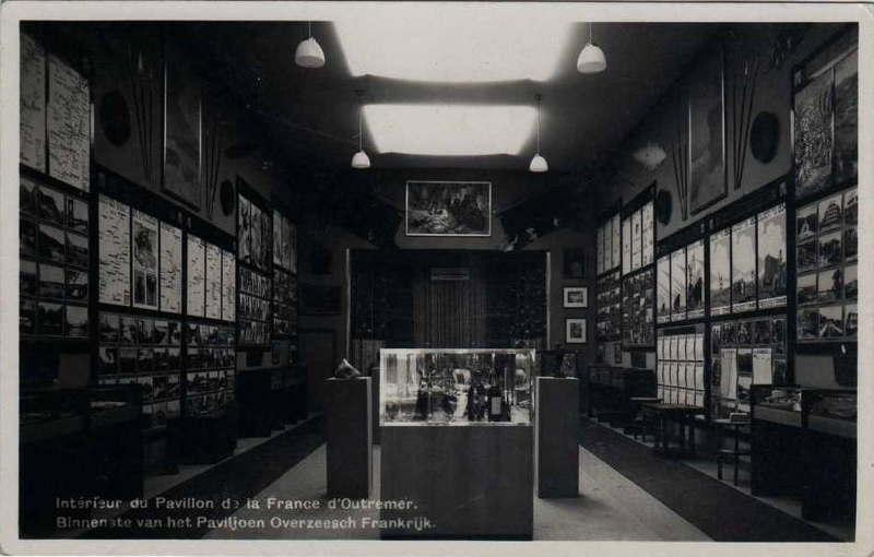 Expo Bruxelles 1935 - Carte postale - Pavillon de la France d Outremer
