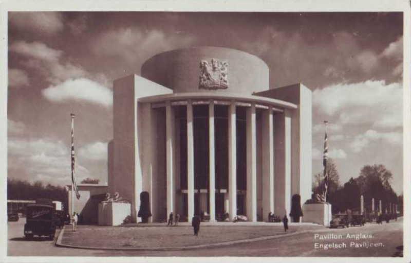 Expo Bruxelles 1935 - Carte postale - Pavillon de la Grande Bretagne - Engelsch Paviljoen
