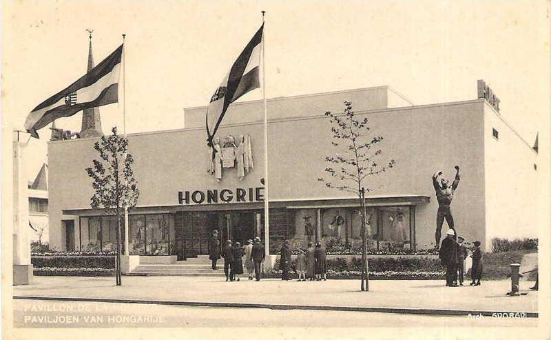 Expo Bruxelles 1935 - Carte postale - Pavillon de la Hongrie - Paviljoen van Hongarije