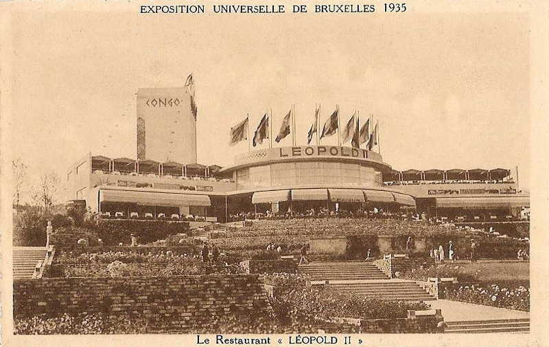 Expo Bruxelles 1935 - Carte postale - Leopold II
