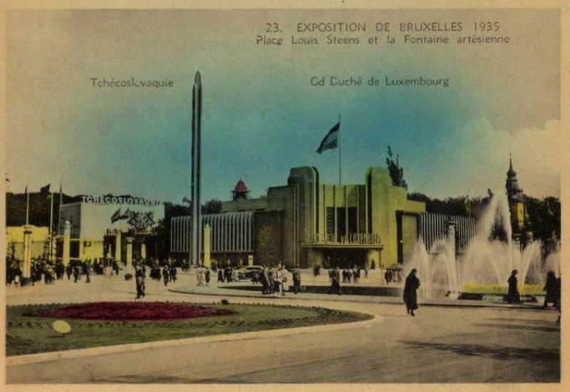 Expo Bruxelles 1935 - Carte postale -Pavillon du Luxembourg