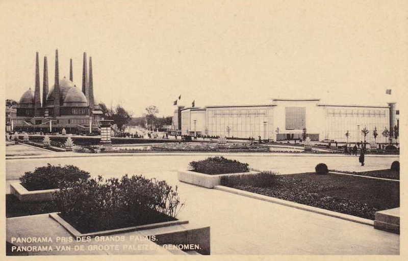 Expo Bruxelles 1935 - Carte postale - Avenue de Miramar