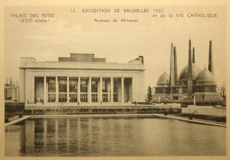 Expo Bruxelles 1935 - Carte postale - Palais des fêtes