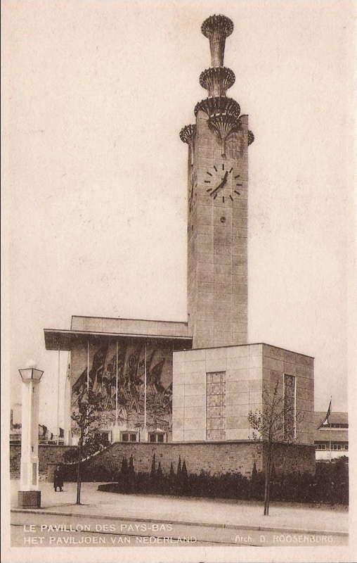 Expo Bruxelles 1935 - Carte postale - Pays-bas - Nederland