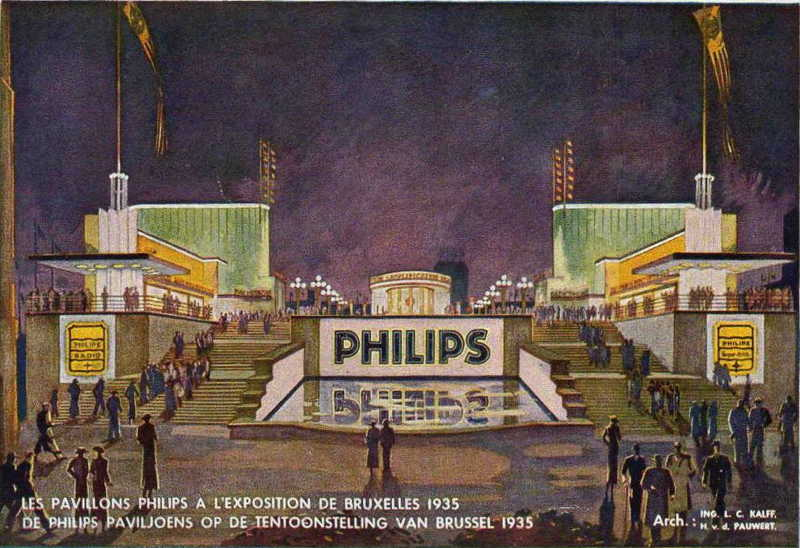 Expo Bruxelles 1935 - Carte postale - Philips