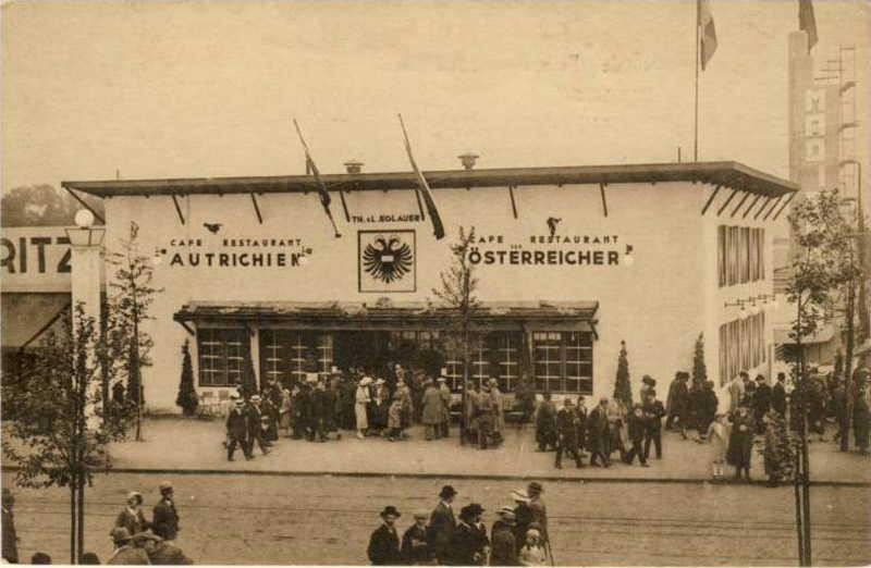 Expo Bruxelles 1935 - Carte postale - Restaurant Autrichien
