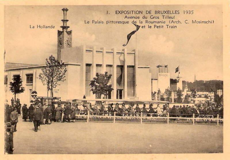 Expo Bruxelles 1935 - Carte postale - Pavillon de la Roumanie