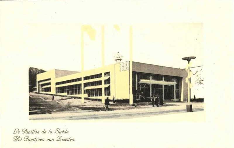 Expo Bruxelles 1935 - Carte postale - Pavillon de la Suede - Paviljoen van Zweden