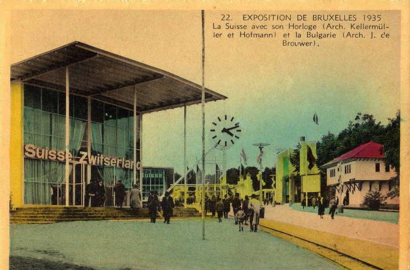 Expo Bruxelles 1935 - Carte postale - Pavillon de la Suisse - Paviljoen van Zwitserland
