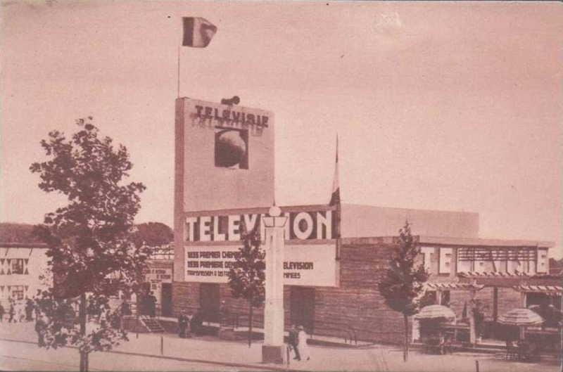 Expo Bruxelles 1935 - Carte postale - Pavillon de la Télévision - Paviljoen van Televisie