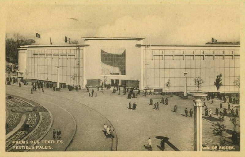Expo Bruxelles 1935 - Carte postale - Palais des Textiles - Textiels Paleis