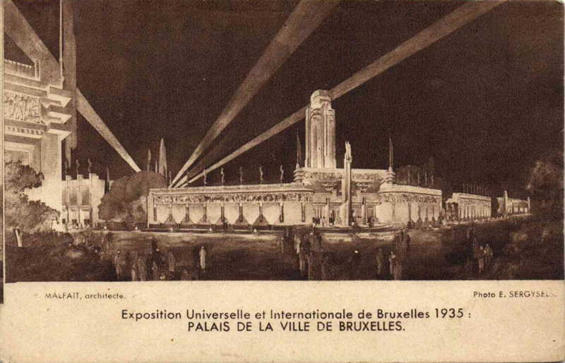 Expo Bruxelles 1935 - Carte postale - Ville de Bruxelles