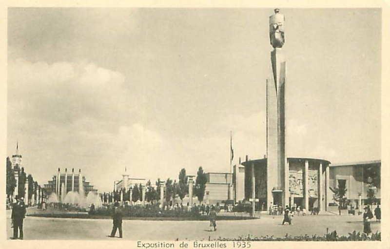 Expo Bruxelles 1935 - Carte postale - Pavillon de la Ville de Paris - Paviljoen van de stad Parijs