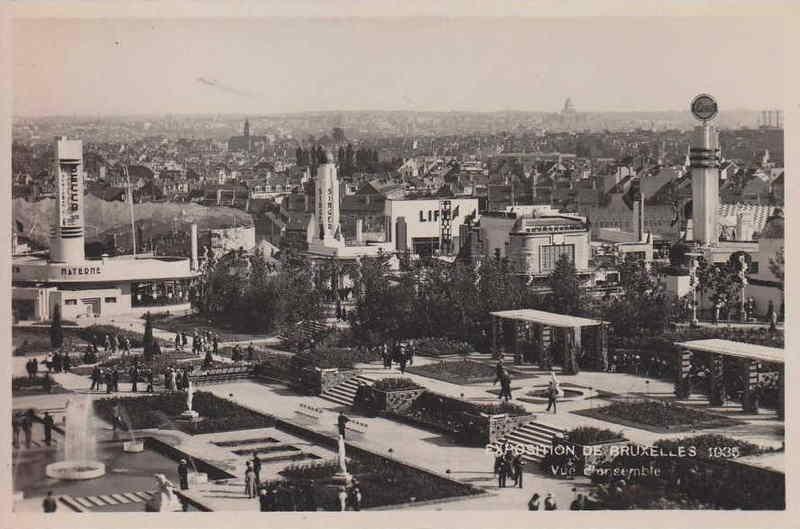 Expo Bruxelles 1935 - Carte postale - Vues Aeriennes - Luchtonames
