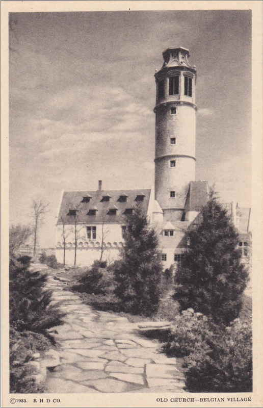 Expo Chicago 1933 - Postcard - Belgian Village