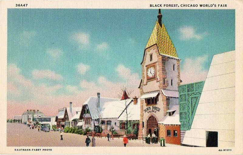 Expo Chicago 1933 - Postcard - Black Forest Village