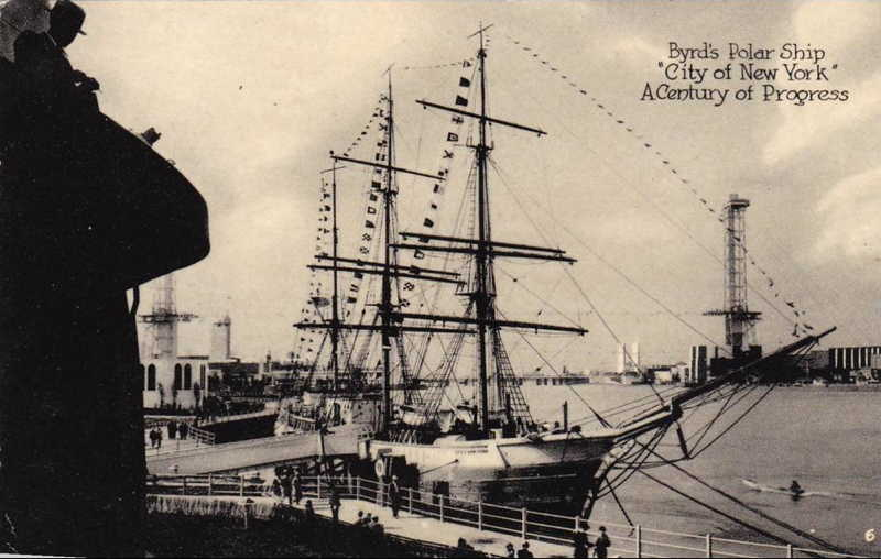 Expo Chicago 1933 - Postcard - Byrd s Polar Ship
