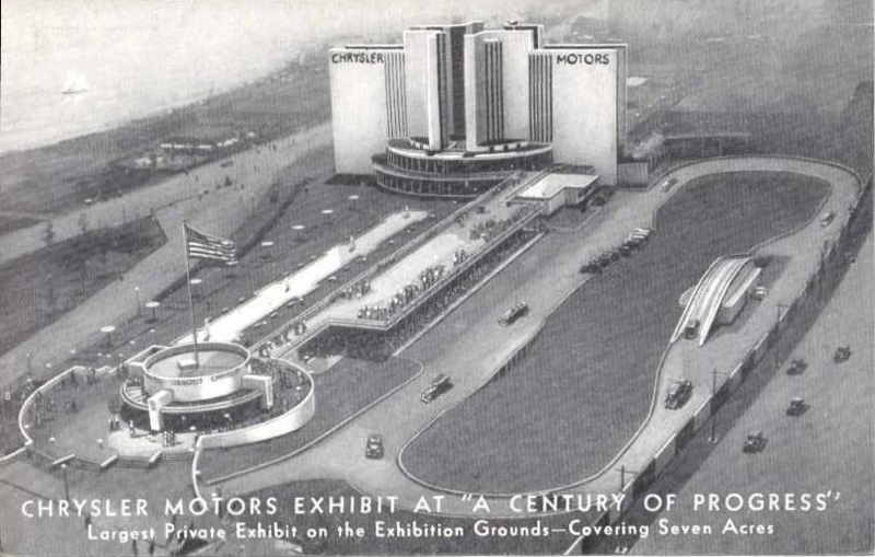 Expo Chicago 1933 - Postcard - Chrysler Motors