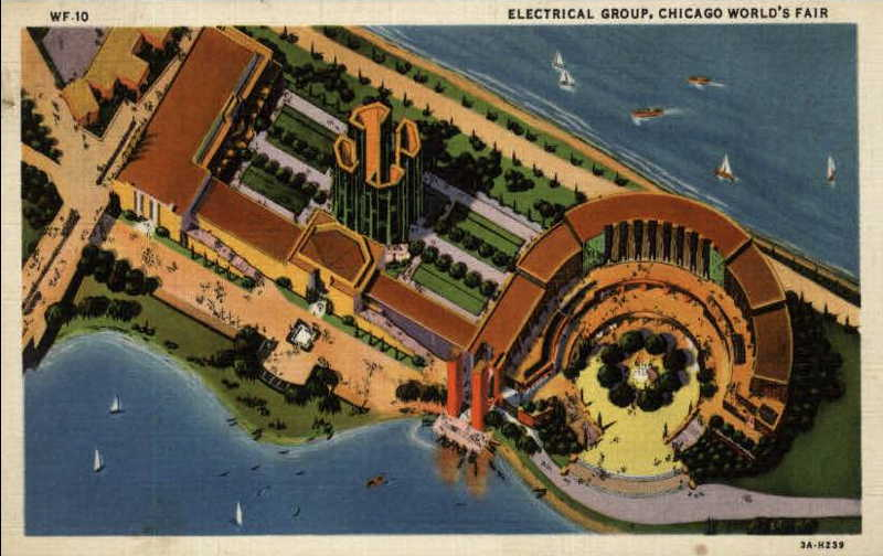 Expo Chicago 1933 - Postcard - Electrical Group