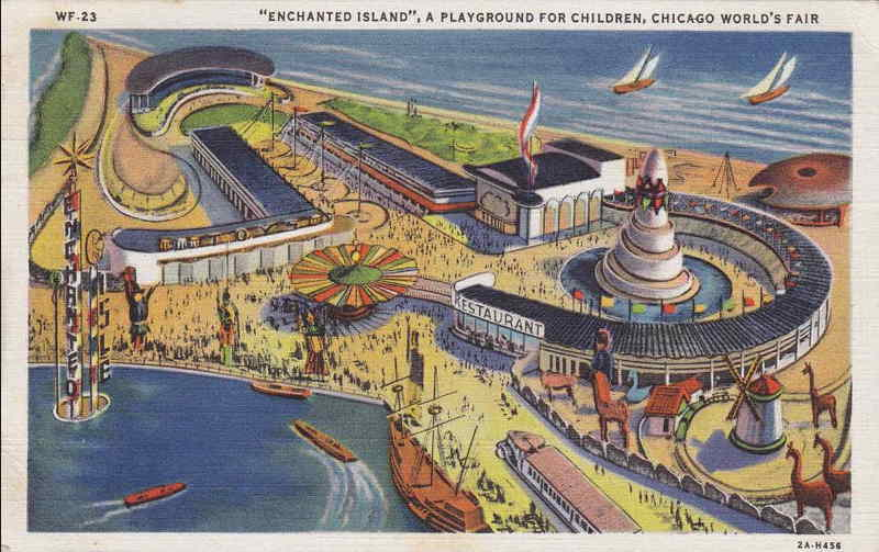 Expo Chicago 1933 - Postcard - Enchanted Island