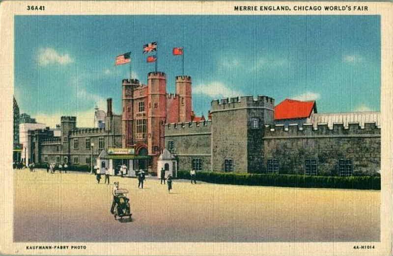 Expo Chicago 1933 - Postcard - English Village
