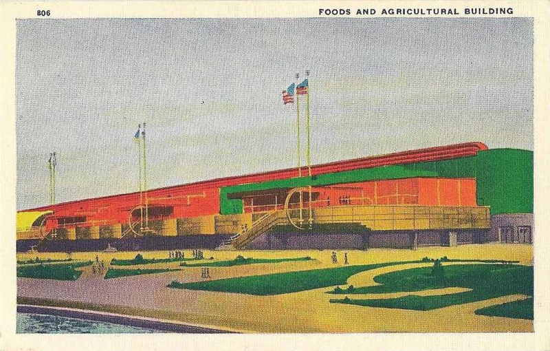 Expo Chicago 1933 - Postcard - Foods and Agricultural  Building