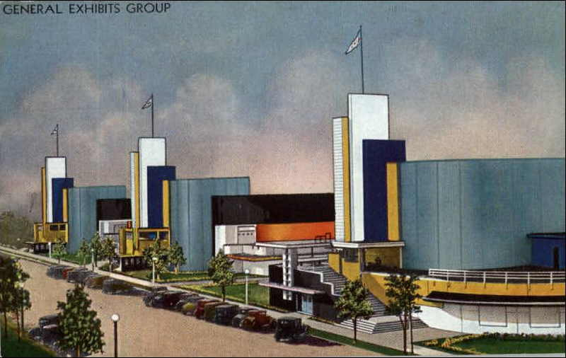 Expo Chicago 1933 - Postcard - General Exhibits Group