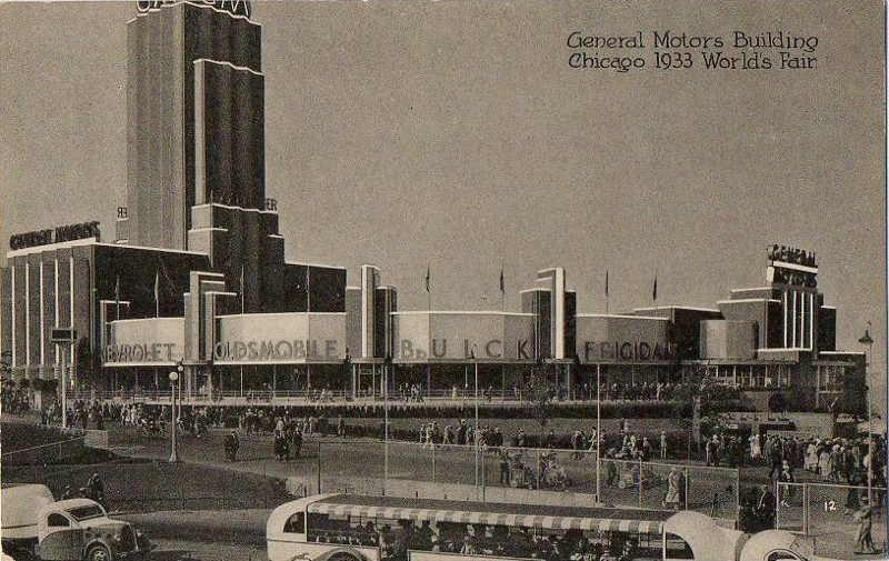 Expo Chicago 1933 - Postcard - General Motors