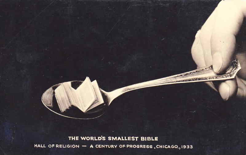 Expo Chicago 1933 - Postcard - Hall of Religion