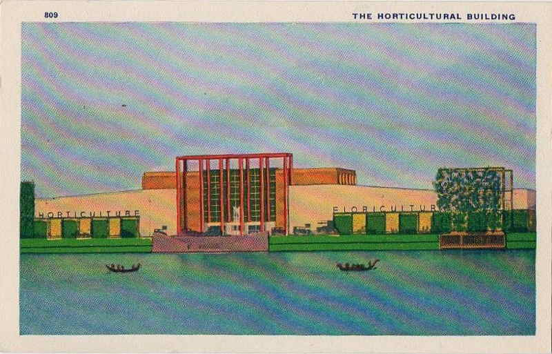 Expo Chicago 1933 - Postcard - Horticultural Building