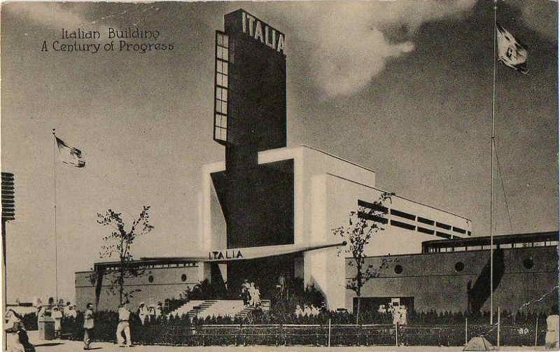Expo Chicago 1933 - Postcard - Italia Pavilion