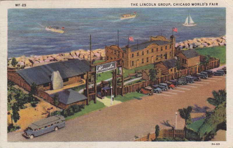 Expo Chicago 1933 - Postcard - Lincoln Group
