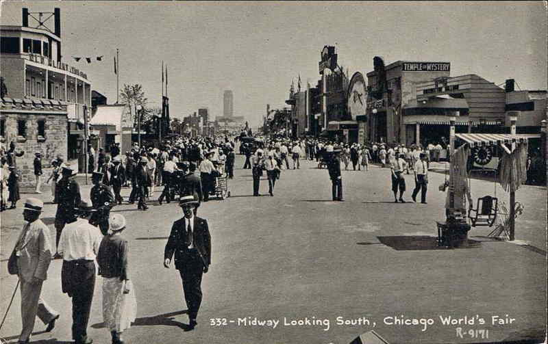 Expo Chicago 1933 - Postcard - Midway