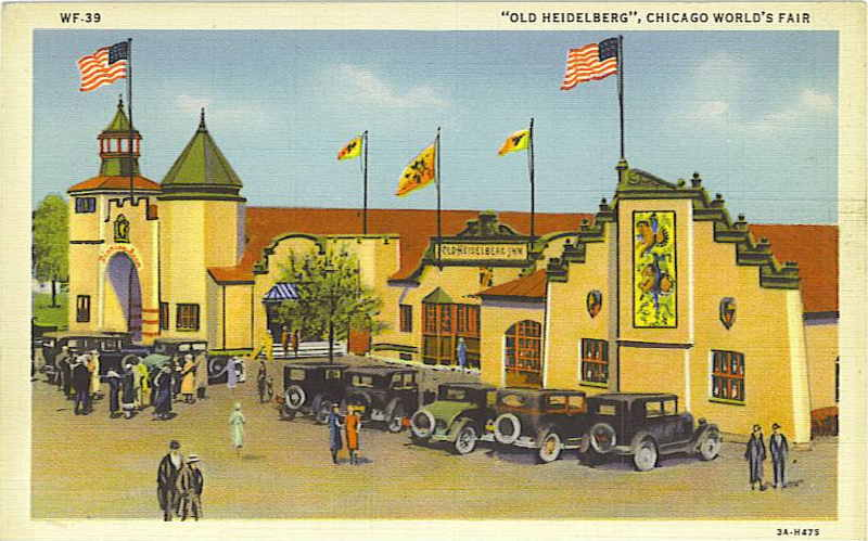 Expo Chicago 1933 - Postcard - Old Heidelberg