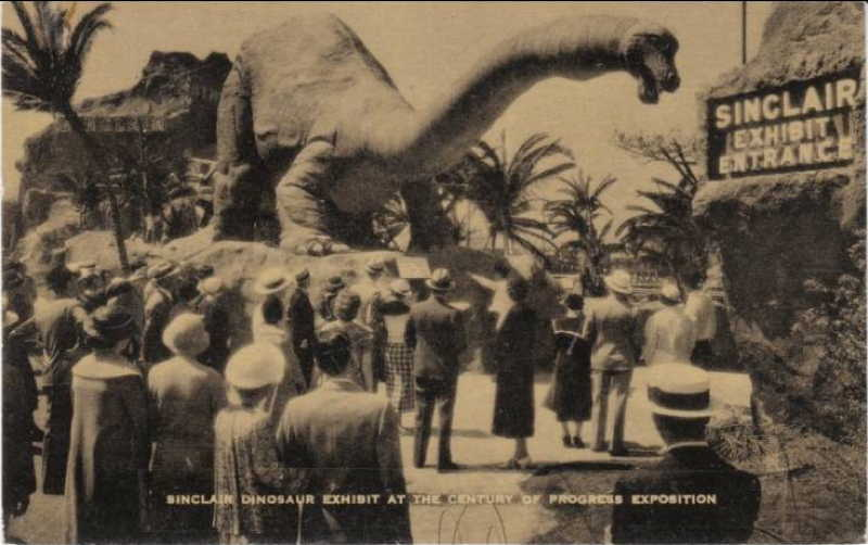 Expo Chicago 1933 - Postcard - Sinclair Exhibit