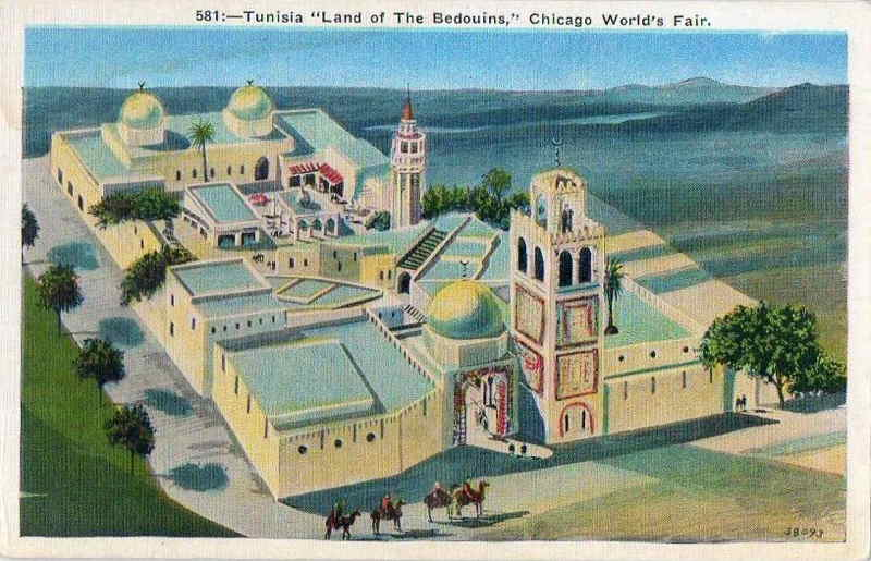 Expo Chicago 1933 - Postcard - Tunisia - Land of the Bedouins