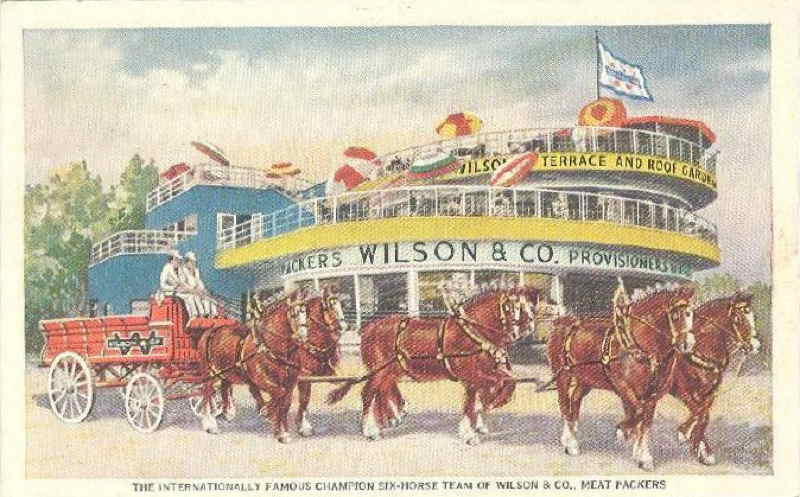 Expo Chicago 1933 - Postcard - Wilson and Co