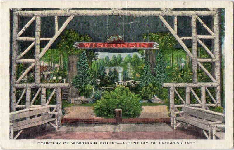 Expo Chicago 1933 - Postcard - Wisconsin