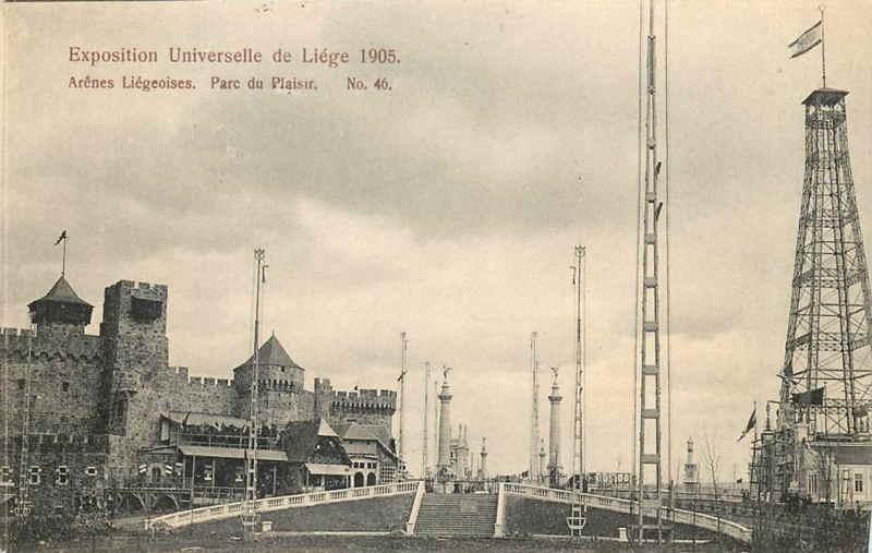 Expo Liège 1905 - Carte postale - Arènes Liègeoises